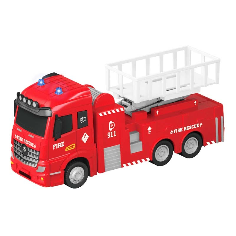 1:46 Scale 2019 New Popular Pull Back Alloy Fire Truck Toys Battery operated Die Cast Model Truck